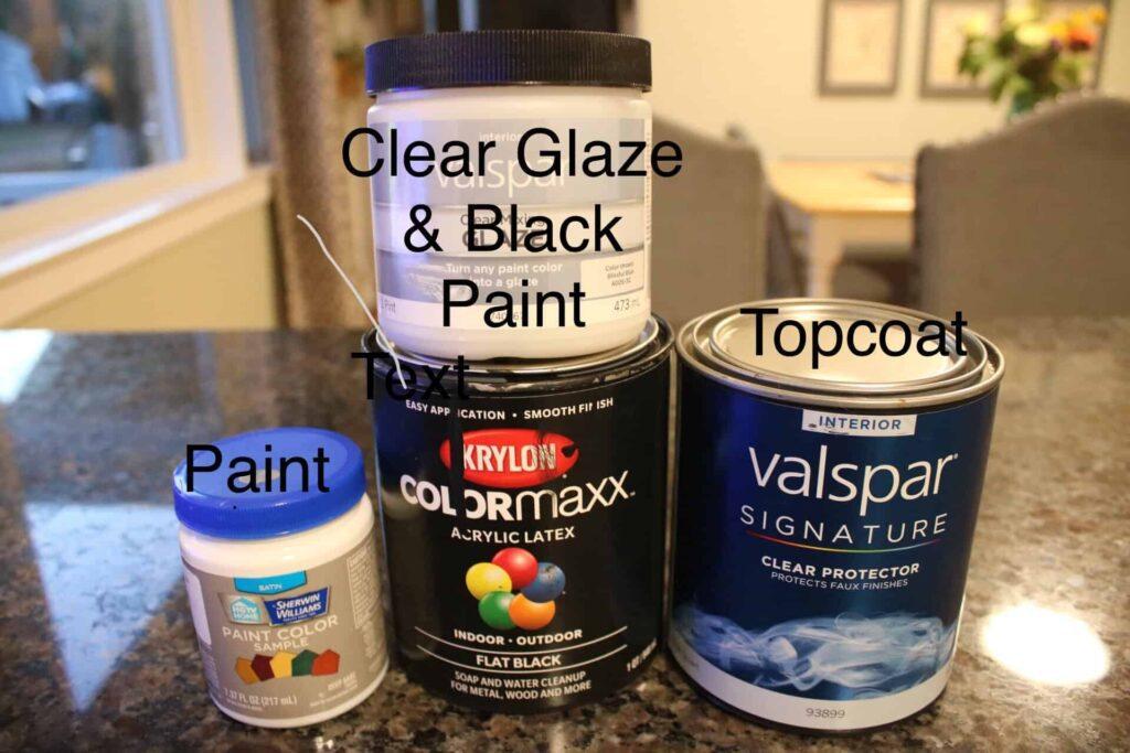 dresser makeover paint and glaze