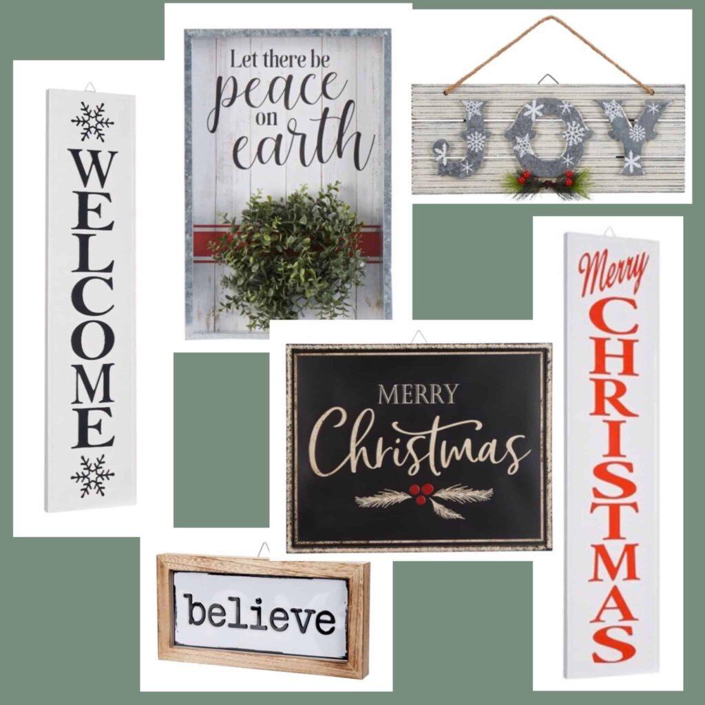 Walmart Christmas Signs