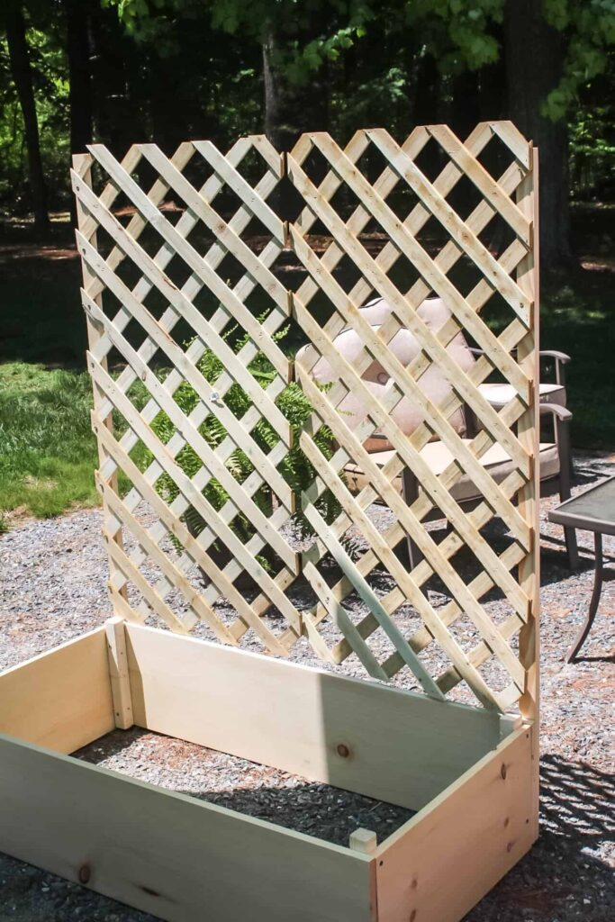 attaching lattice to frame