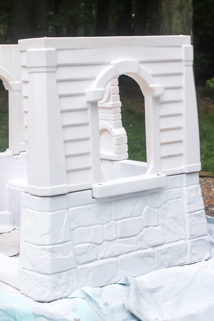 painted side of playhouse