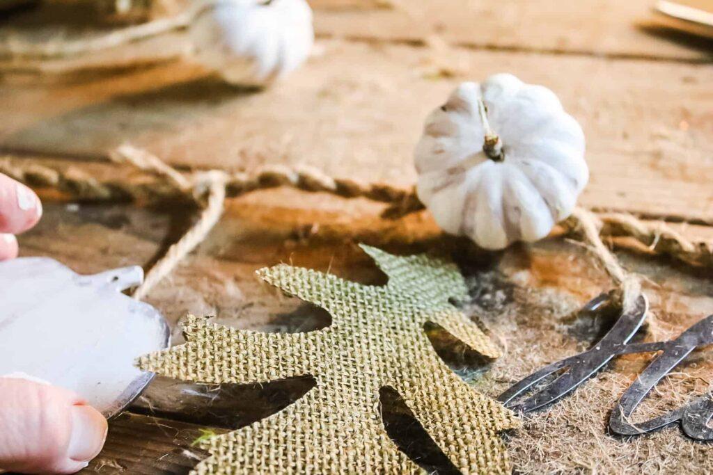 assembling the fall garland