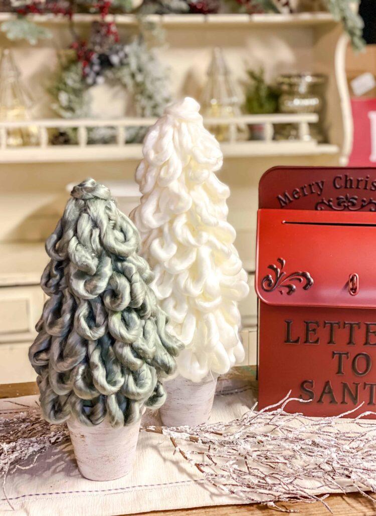 Finished Yarn Christmas Tree