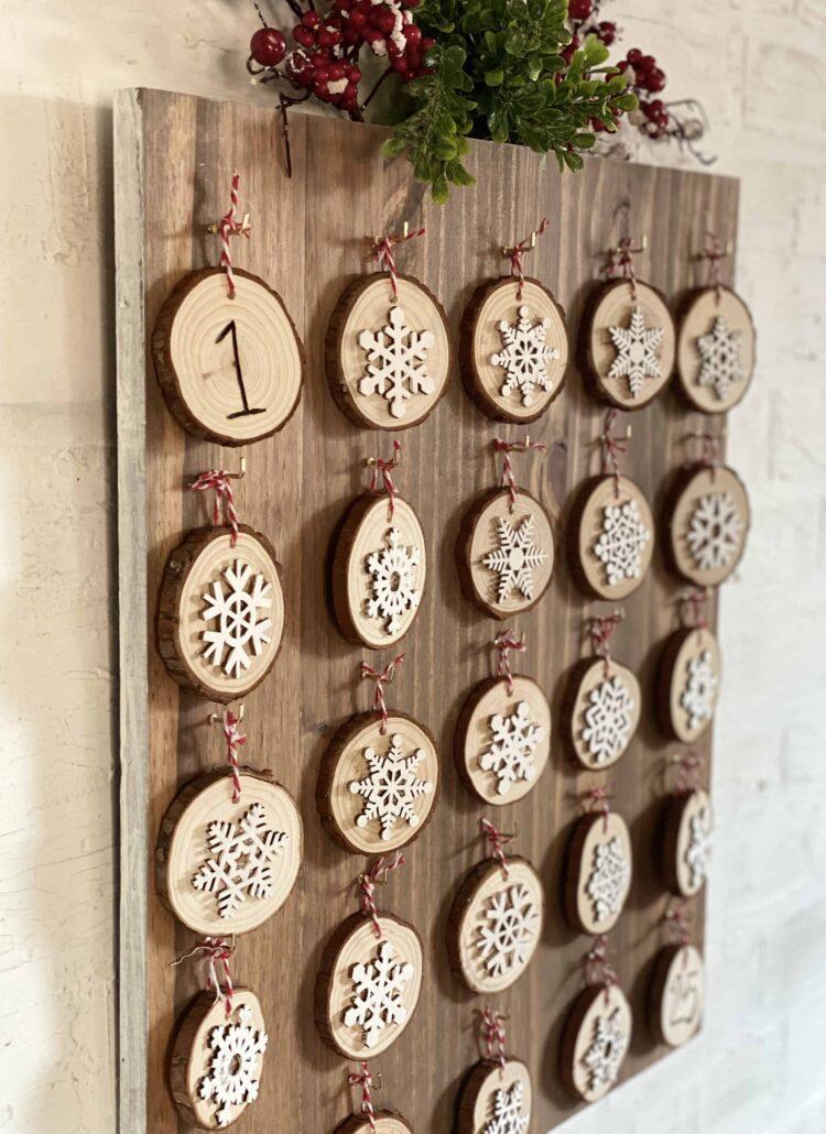 Wood Advent Calendar DIY
