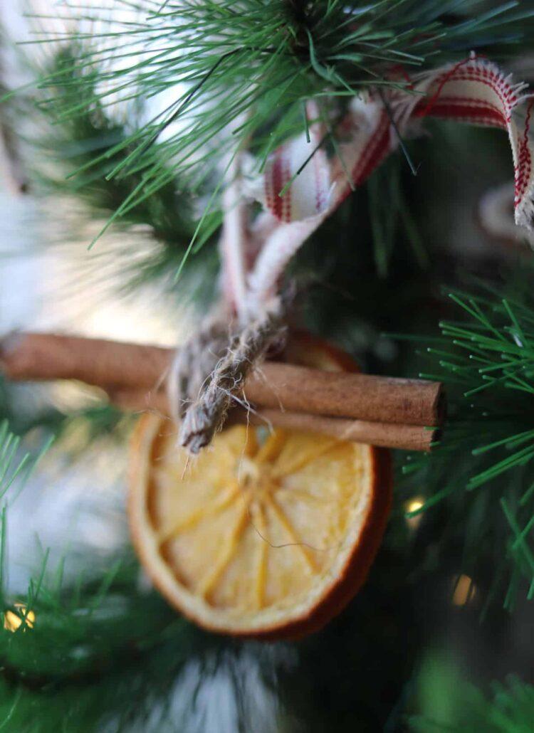 dried orange ornament