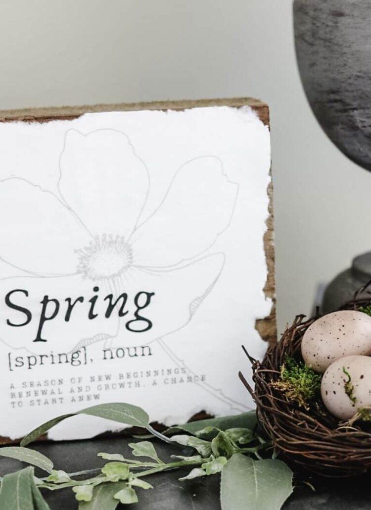 spring printable sign